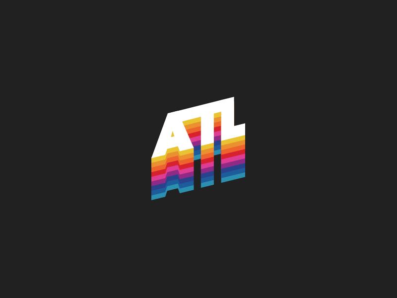ATL - Atlanta culture fonts branding community city atl type letters snapchat atlanta rainbow colors