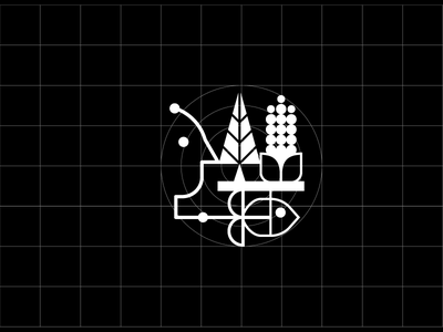 Economic activity fish corn tree sign symbol quito ecuador mexico icon web iconography human icon a day economy icon