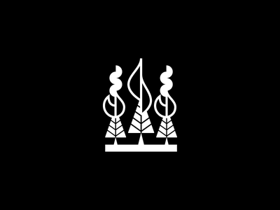 Forest fire mexico ecuador quito pictogram symbol geometry iconography icon a day icon forest tree fire