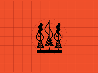 Forest fire vector mexico ecuador quito pictogram geometry icon a day icon iconography symbol tree forest fire