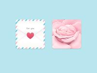 love letter & rose