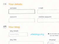 Edublogs Form
