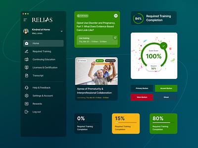 Design System for Relias setdesign ui illustration developer sandbox design design language design kit component library design system branding