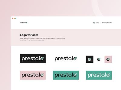 Logo for Prestalo component library design kit design language user interface ui symbol logo logo mark logo symbols logo ui element branding logo design