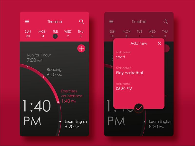 Inspirasi #29  - UI / UX Design To - Do Web & App
