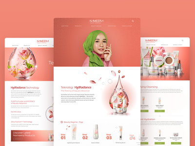Nameera Website uiux uidesign unilever muslim skincare botanical beauty arabic aquatic