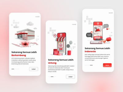 Convenience Store App Onboarding 3d illustration 3d art indonesia mobile app mobile ui uiuxdesign ecommerce shopping traditional market store convenience store phillip morris indonesia sampoerna kelontong src