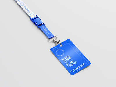 Some Think Conference Lanyard ID Tag Design covid branding talk designer exhibition museum outofthebox design contemporary lanyard tag idea mockup concept design somethink conference forum event speaker