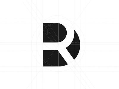 Personal Branding Logo DR logo design concept logo construction goldenratio r logo d mark uiux personalbranding logo design branding whitespace negativespace logotype monogram logo logo design