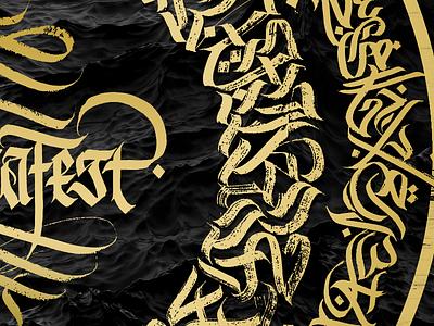 Calligraffiti Calligram logo fraktur blackletter handstyle mocafest script arabic cyrillic modern calligraphy calligraffiti