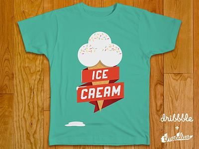 Ice Cream tshirt threadless design ice cream illustration typography clothing shirt green