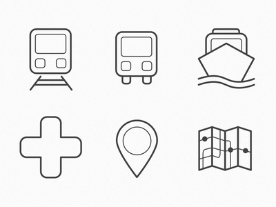 Icon Design Exploration icon illustration logo transport