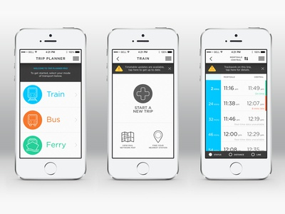 Trip Planner App app icon ux ui design iphone mobile