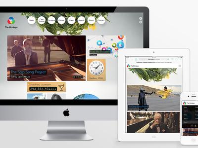 The Monkeys Responsive Website ui design interface responsive website webdesign ipad mobile portfolio