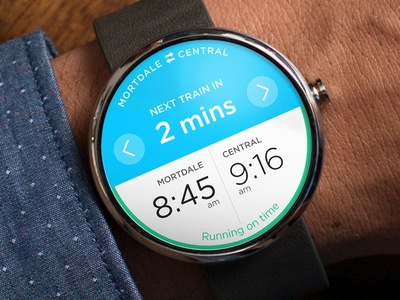 Trip Planner - Android Wear android moto 360 moto interface watch ux ui wearable digital app clock wearables