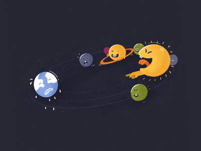 The Brave Blue global warming laughing crying funny solar system earth brave earth art dribbble illustrator graphic graphic design concept character design illustration