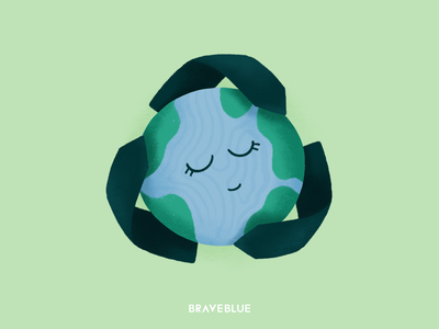 Reduse Reuse Recycle poster nature drawing digital cute reuse reduse recycle character design earth sustainable green dribbble illustrator art concept graphic design character design illustration
