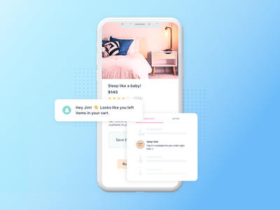 Push Notification home message product page notification push notification web app mobile website dribbble typography whitespace minimal vector ux ui character graphic design design illustration