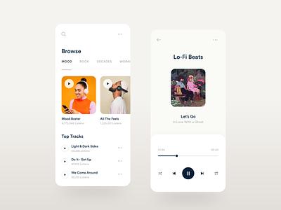 Music App UI application 2020 trends ui ux music app design app design music app