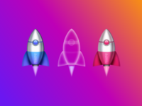 Dribbble Spaceship