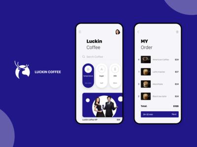 luckin coffee app redesign