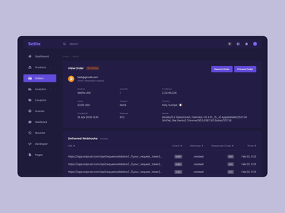 Cryptocurrency E-commerce platform sellers icons interactive user interface menu details page orders coin product design system swith platform dashboard design light theme dark theme themes e-commerce ecommerce cryptocurrency mentalstack