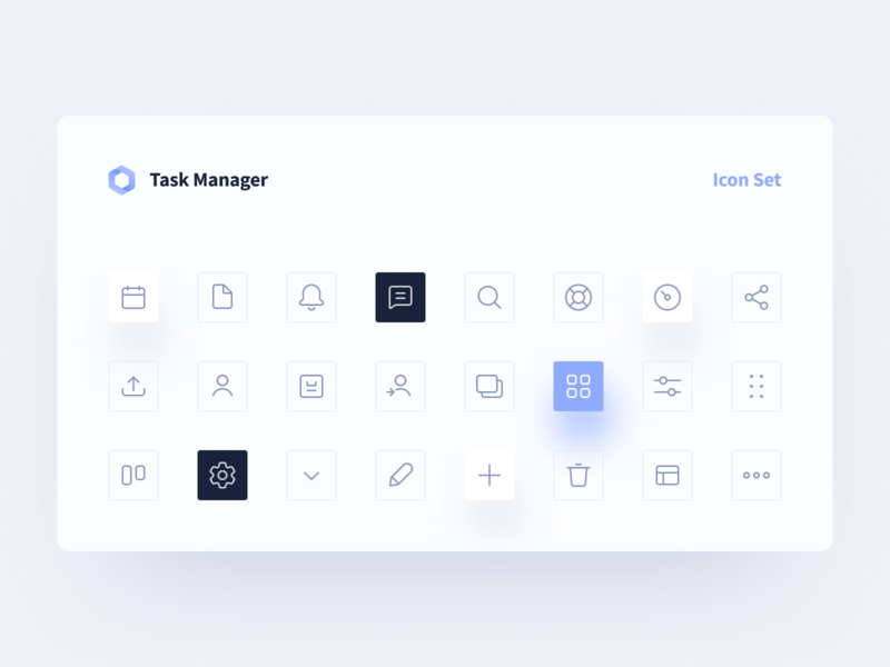 Icon set for Task Management Tool