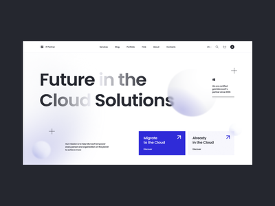 Corporate website for IT company ui design homepage software company identity branding visual design it company clear landing page identity website branding product design mentalstack