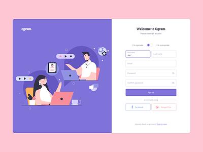 Staff Management Platform user interface start homepage registration sign in homapage uiux illustration product design website mentalstack