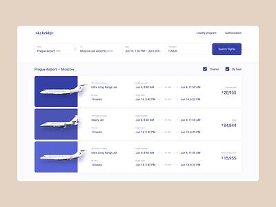Charter flights rent application customer cervise trip travel user interface uiux userflow search plane rent booking app website product design mentalstack