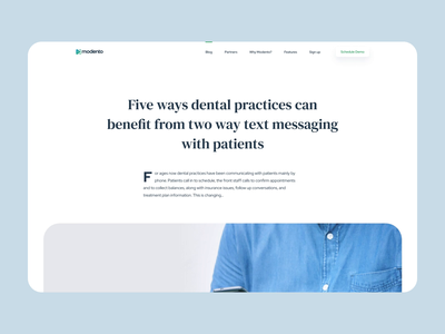 Patient communication platform uiux user interface dentists dental clinic healthcare medicine landing page article blog scroll animation design product design website mentalstack