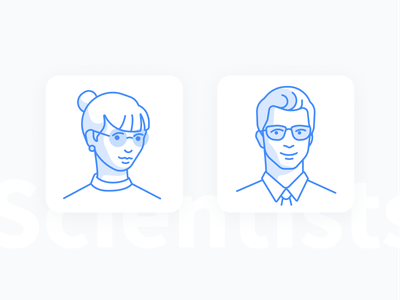 Scientists science scientist people icons user photo no photo scientists avatar