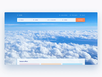 Homepage for airlines company