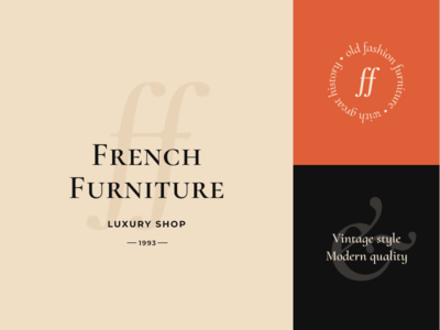 Logo and brand elements for Furniture shop