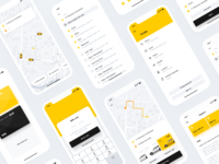 Screens for Taxi app