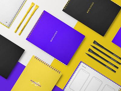 Branded Mental Notebooks, Pens and Pencils pencil pen notebook merch logo identity brand design branding mentalstack