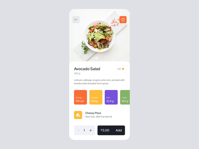 Add item to cart, Food Delivery App