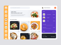 Home screen, Food Delivery — Web version