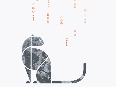Snow leopard geometry shape geometric gray winter big cat minimalism snow leopard leopard snow