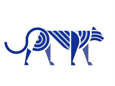 big cat lioness lion big cat cat shape jungle animal tiger minimal geometric pattern minimalist