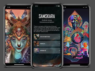 Samskara vr app development android interface design application dream interaction vr technologies vr glass app development art mobile ui interface android app ui vr design