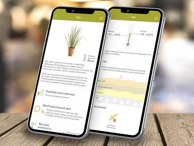Home Plants information figma plants app plants floral care care floral mobile app interface design