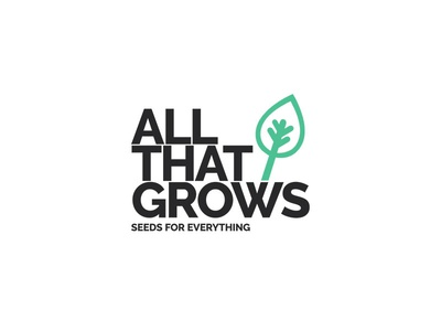 ATG - Branding organic green seeds typography font raleway leaf grows ux ui branding logo