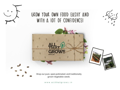 AllThatGrows - Case Study Explorations case study live organic green seeds typography font raleway leaf grows ux ui