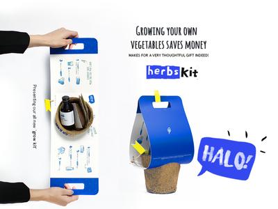 Grow Kit typography ecommerce package design seeds branding