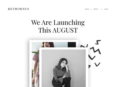 Retrodays clothing design ui ecommerce