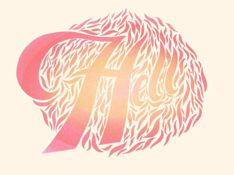 Hell morning logodesign illustration design typography fade gradient lettering letter typogaphy type logo