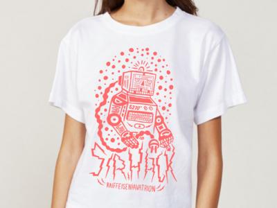 Sirhack typography design lab red hack robot illustation