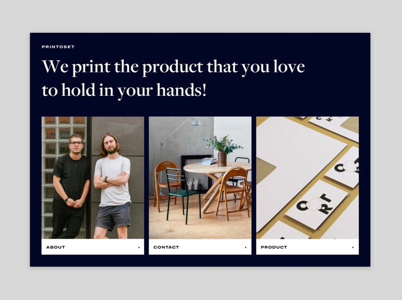 pritoset first draft user experience uiux draft webdesign web classic portfolio site big typography print digital