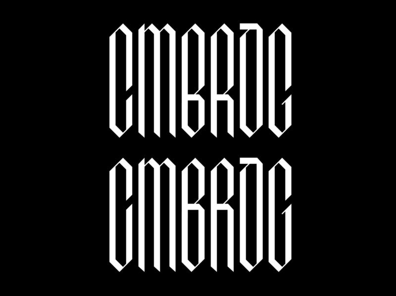 CMBRDG question opinion digital design typography logodesign logotype logo geometic bottom top cambridge process workinprogress test lettering
